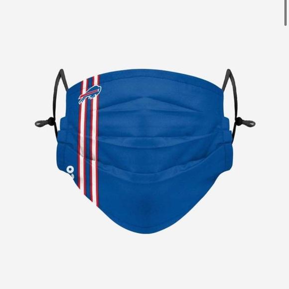 NFL Foco Buffalo Bills Pleated Face Mask